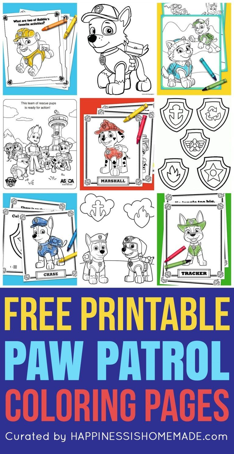 Free Paw Patrol Coloring Pages Happiness Is Homemade Paw Patrol Coloring Paw Patrol Coloring Pages Paw Patrol Party [ 1485 x 768 Pixel ]