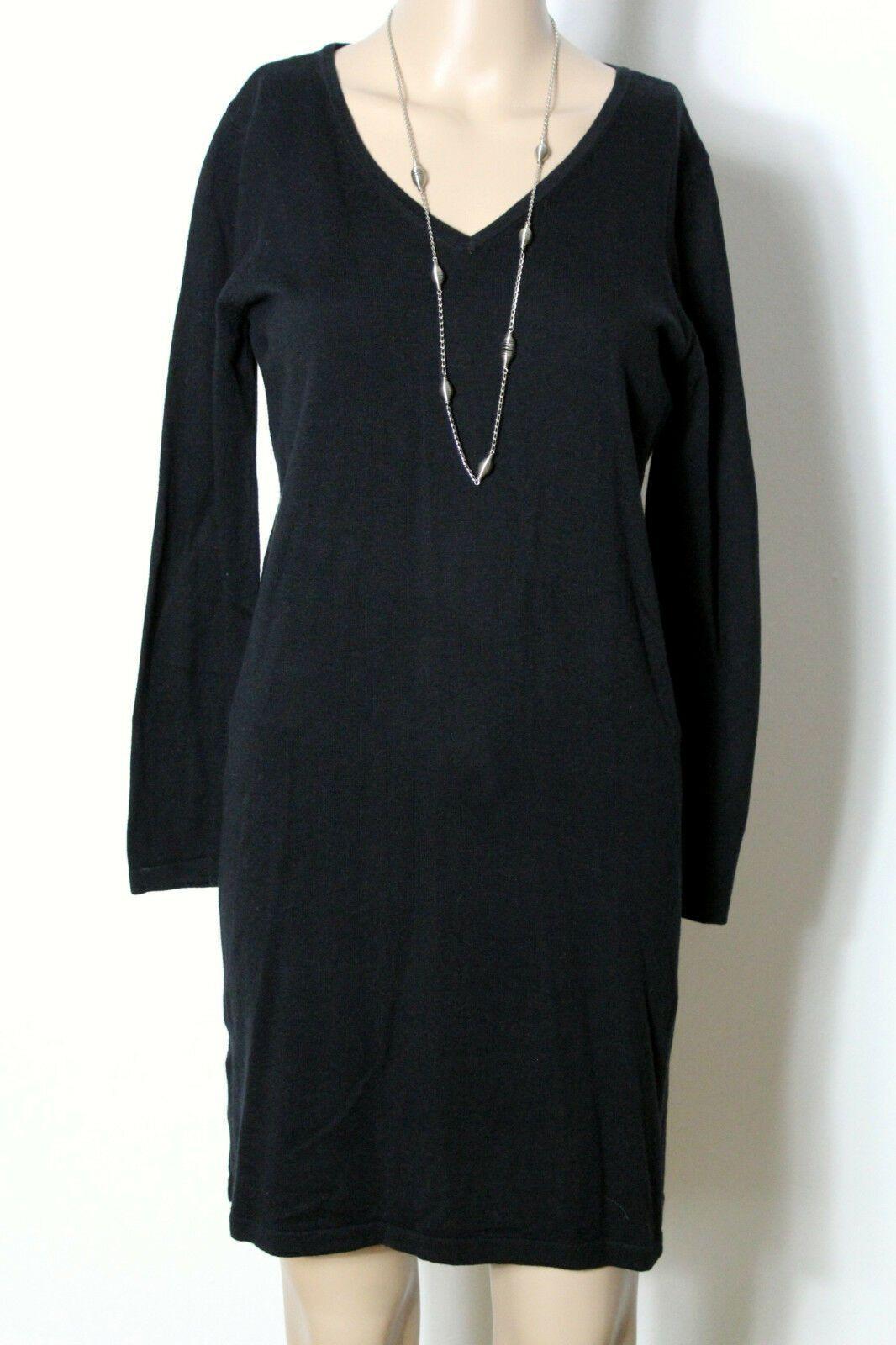 MANGO Kleid Gr. S schwarz kurz/mini Stiefel Strick Kleid