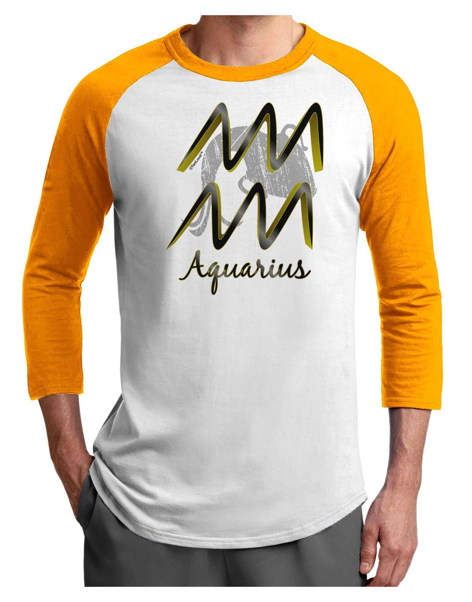 TooLoud Aquarius Symbol Adult Raglan Shirt