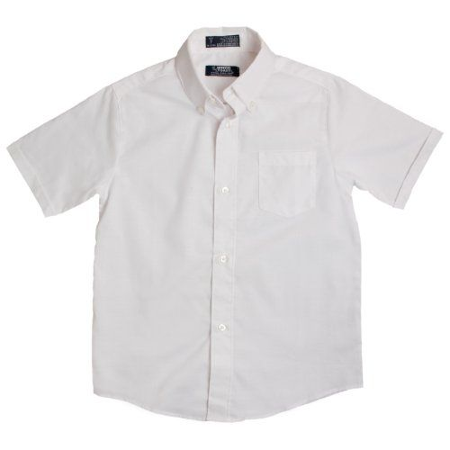 French Toast Boy/'s Short Sleeve Poplin Uniform White Button Up Shirt