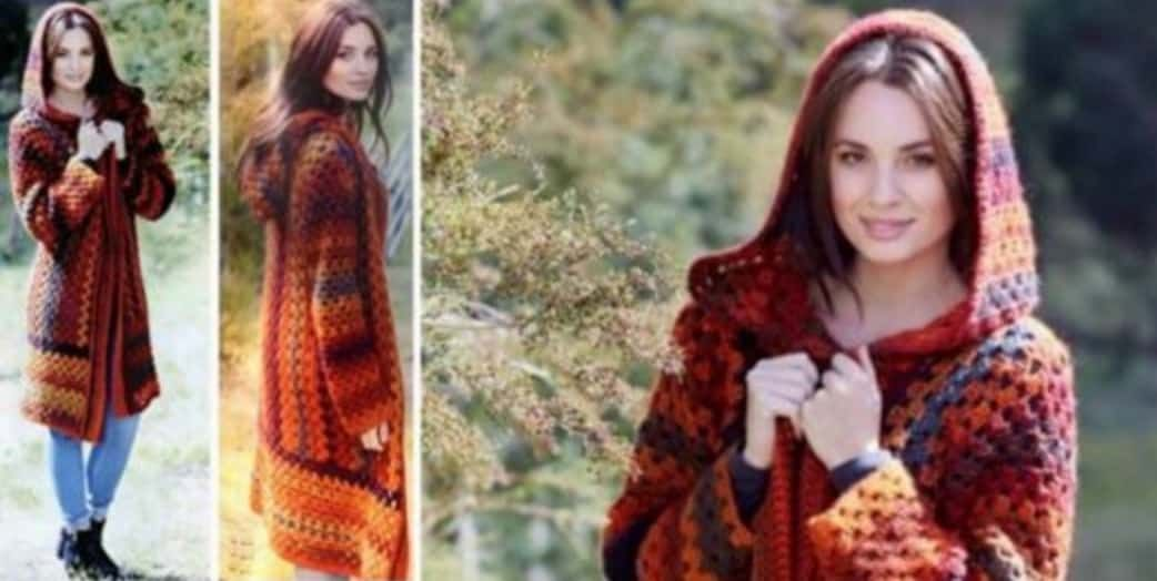 Crochet Hooded Jacket Pattern Free Video Tutorial | Blusas