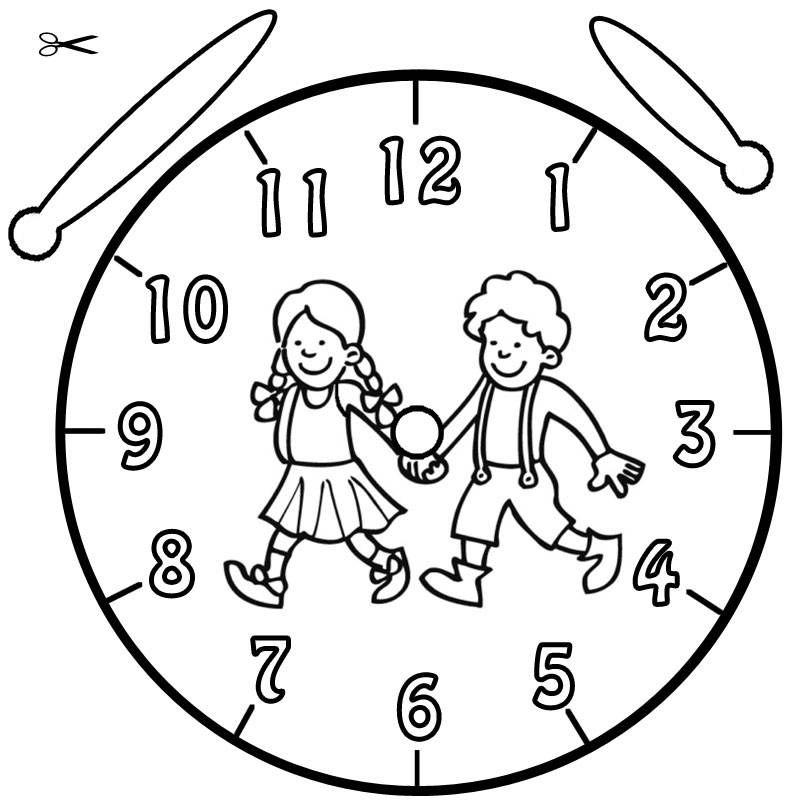 Vorlage Uhr Haensel und Gretel 243 Malvorlage Uhr Ausmalbilder ...