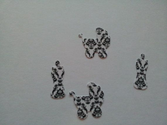 Damask Baby Shower Confetti 150 pieces by CassCouture12 on Etsy, $4.00
