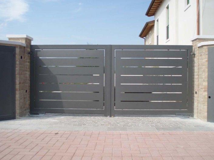 Cancelli moderni modello 10 casa home gate design for Cancelli da giardino