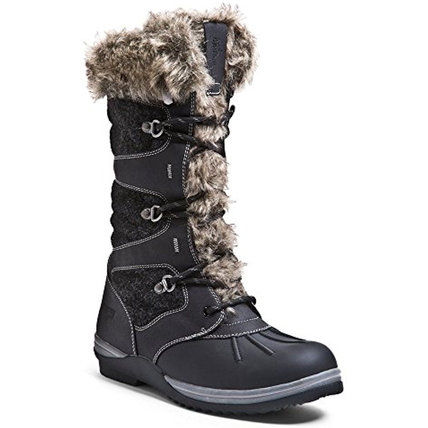Blondo Sasha Snow Boot(Women's) -Dark Grey Recycled Leather/Felt Fashionable Sale 100% Original From China dl4ablm85A