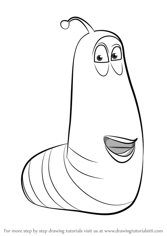 Learn How To Draw Yellow From Larva Larva Step By Step Drawing Tutorials Larva Cartoon Larvae Cartoon Coloring Pages