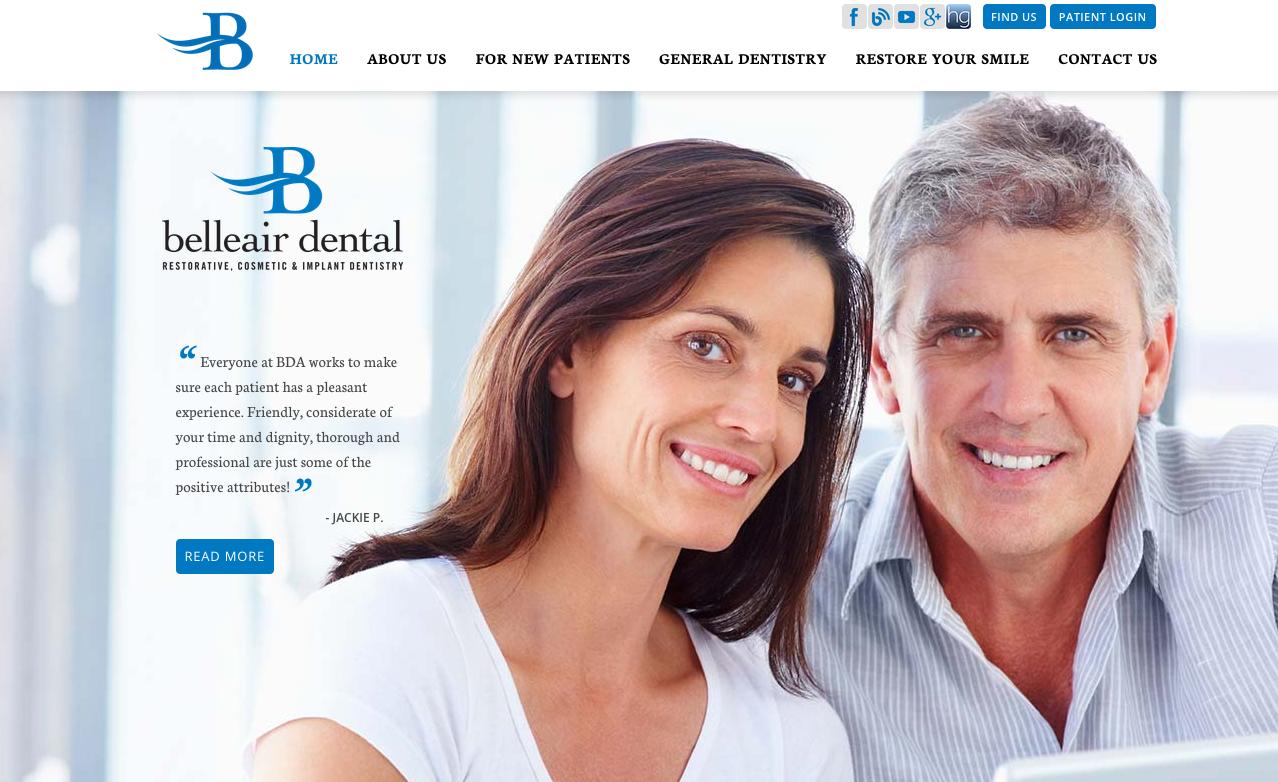 sesamewebdesign psds dental responsive serif top
