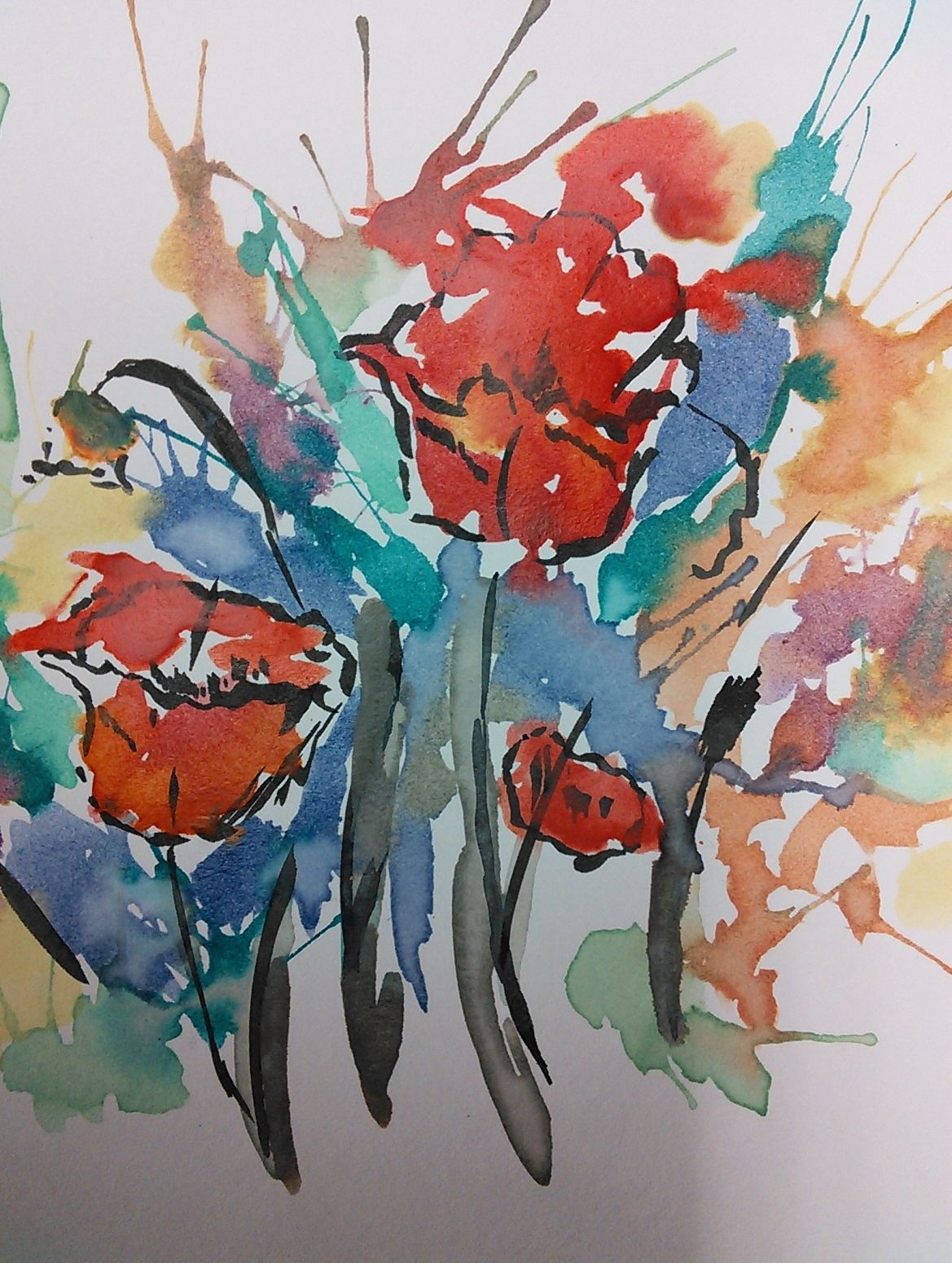 Watercolor And Ink Straw Paintings Watercolor Art Lessons