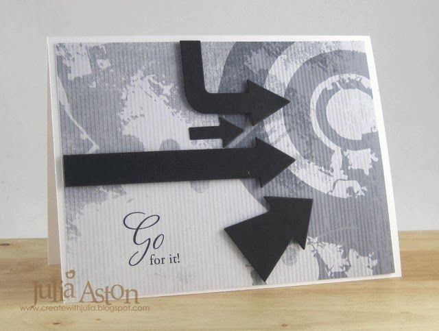 Card by Julia Aston using Digi paper 'A splash of grunge'