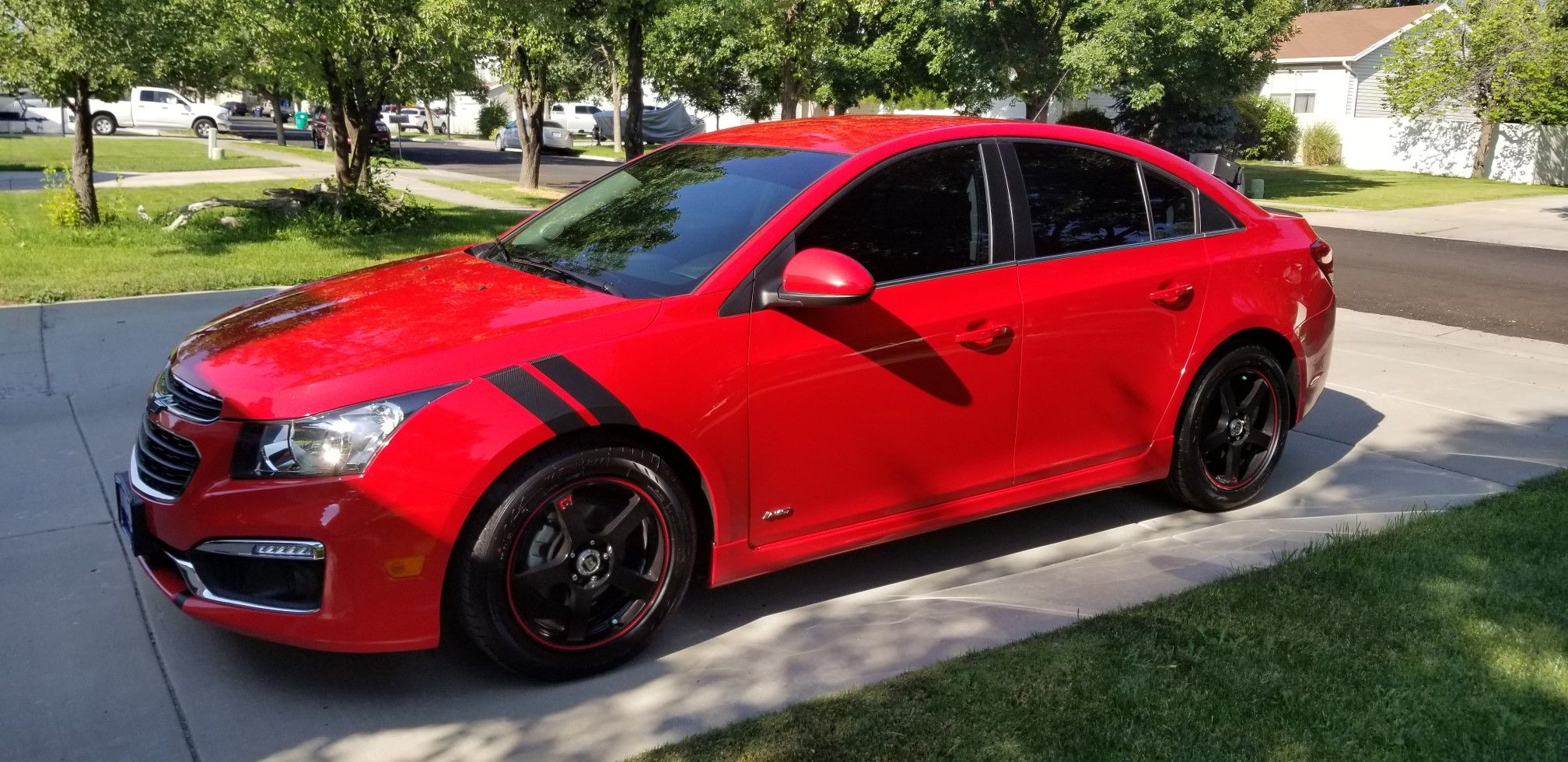 Fender Strips Fia Stripes Rims Black And Red Tinted Windows