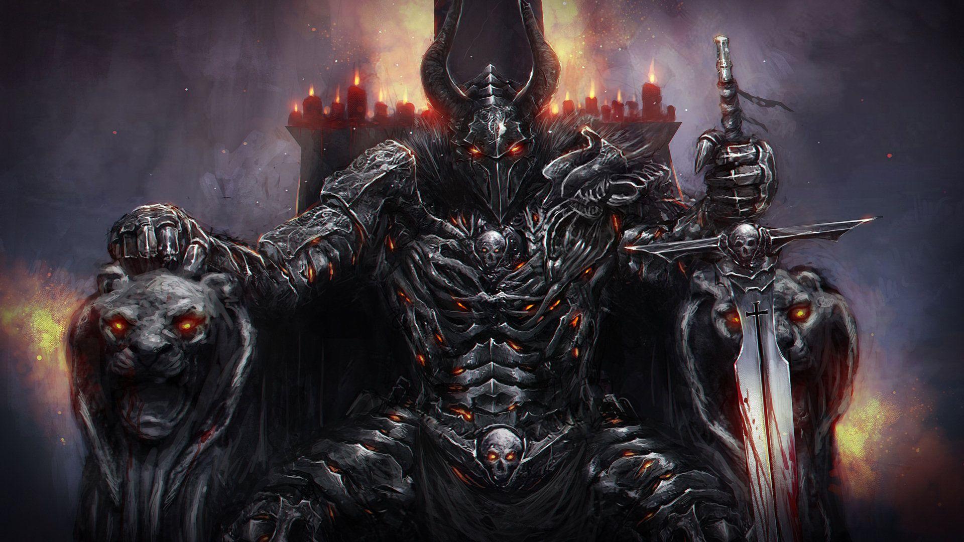 Evil Knight Art Dark Science Fiction Fantasy Warrior