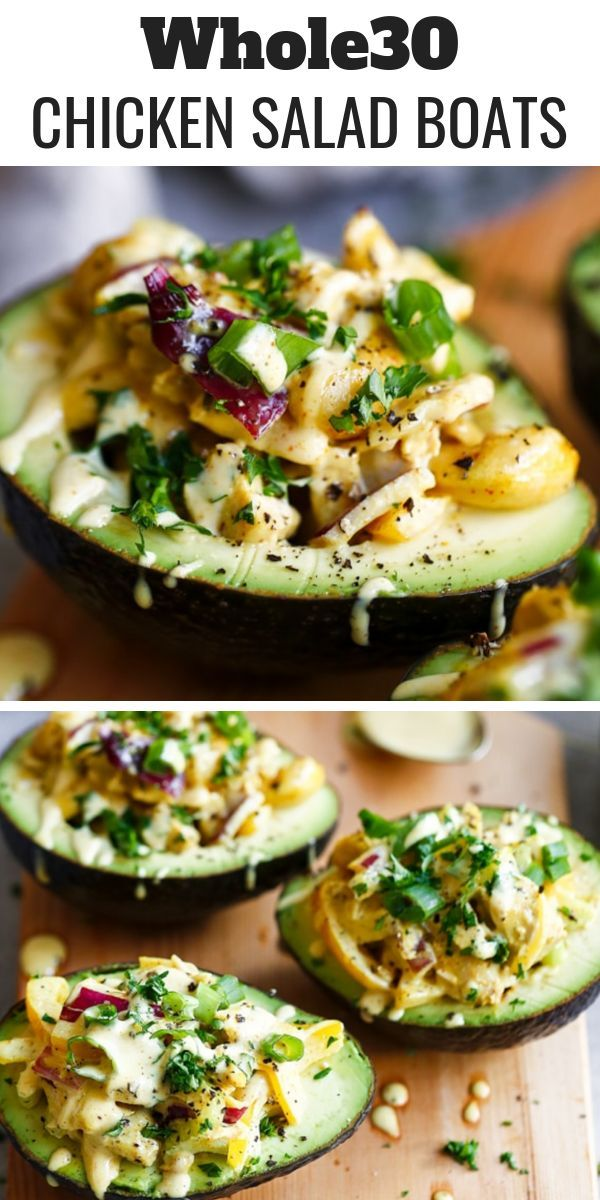 Paleo Whole30 Chicken Salad Boats images
