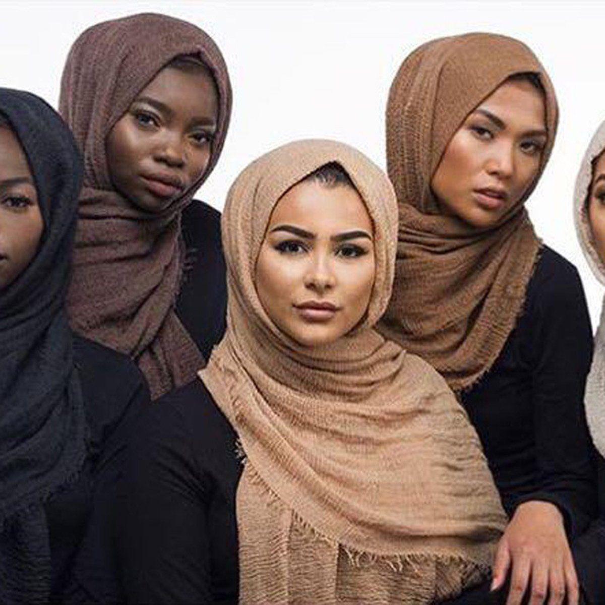 Cotton Linen Crinkle Cloud Hijab Scarf Shawl Soft Islam Muslim Headwear  180X95Cm 1265ccbbddb