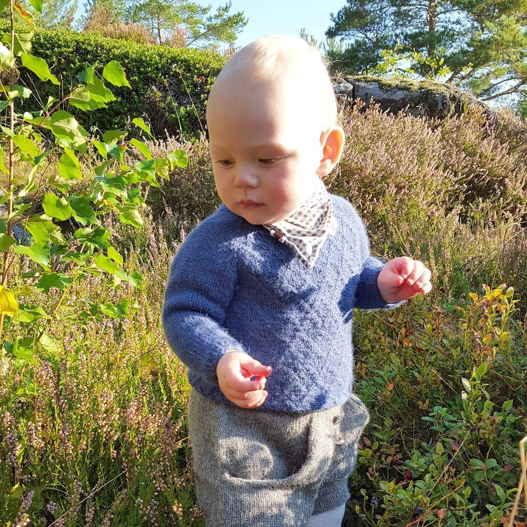 «Vår lille bærplukker er blitt et helt år!  Hipp hurra for vår lille prins som har gått fra en liten sulten bylt, til nysgjerrig vandretass …»