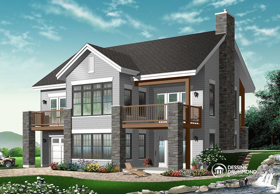 Détail du plan de Maison unifamiliale W3947 house plans
