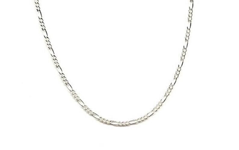 15 Inch Figaro Necklace 3mm Thick Chain With Lobster Clasp Etsy Chains Necklace Wholesale Necklaces Chains Jewelry