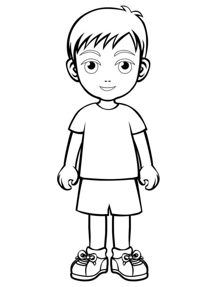 People And Places Coloring Pages Boy And Girl People Coloring Page Boy And