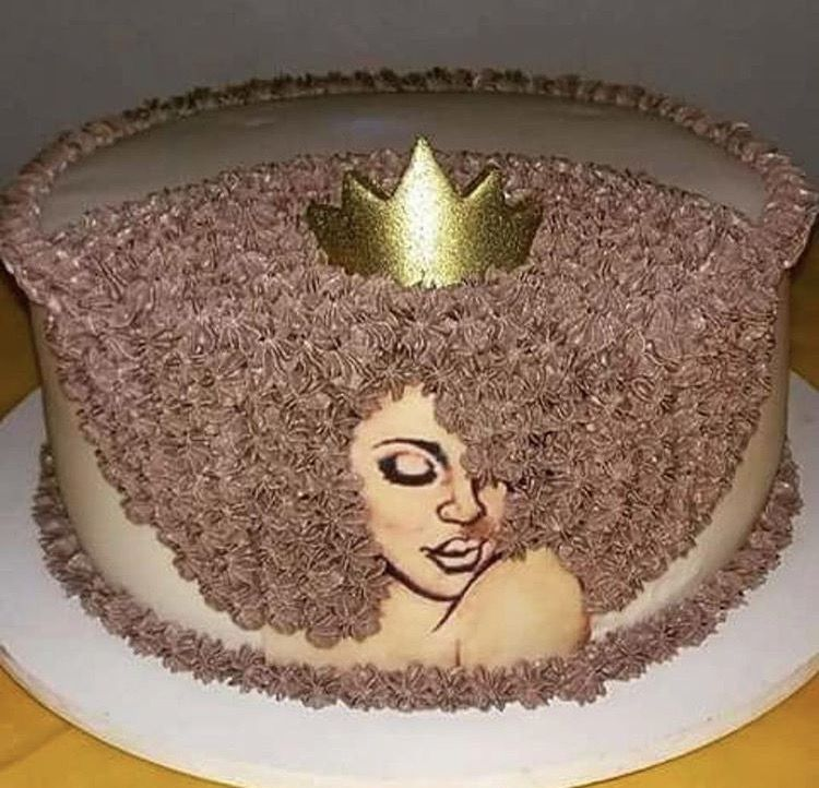 Excellent Afro Cake Queen Cakes Diva Cakes Funny Birthday Cards Online Aeocydamsfinfo