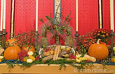 church altar decoration for Thanksgiving