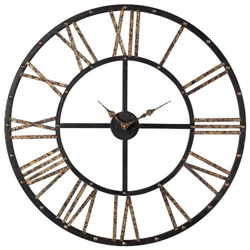 Metal Wall Clock sterling-129-1024-restoration-metal-framed-roman-numeral-open-back