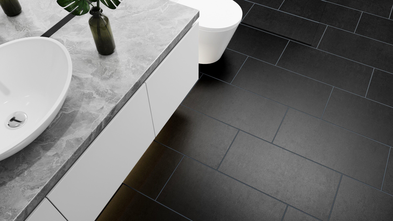 Lounge Black Matt Porcelain In 2020 Bathroom Floor Tiles Tile