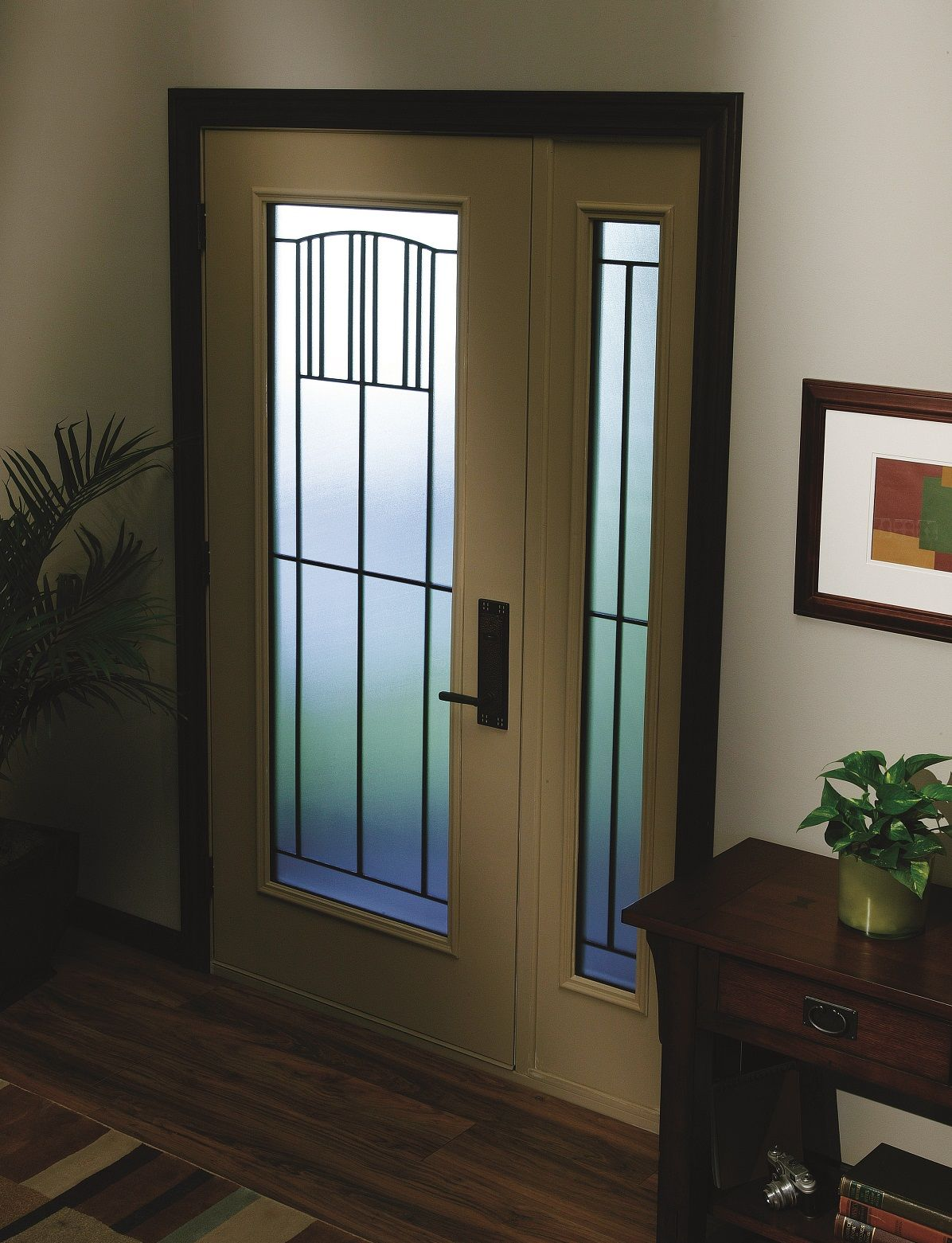The Craftsman-inspired design of  Madison  door glass with its geometric pattern and & The Craftsman-inspired design of