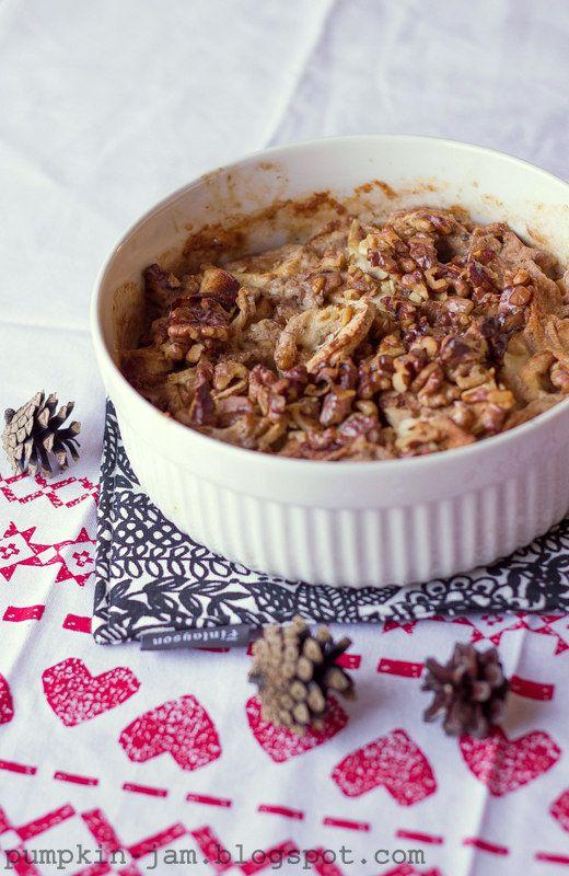 Pähkinäinen palsternakkalaatikko  http://pumpkin-jam.blogspot.fi/2013/12/joulukalenterin-luukku-19.html