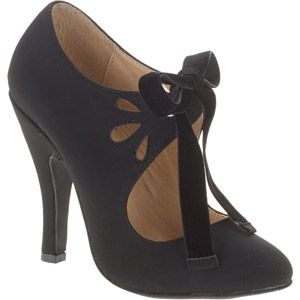 dc5717f17d7f Mo Mo Women s Halo Mary Jane Pump with Velvet Bow