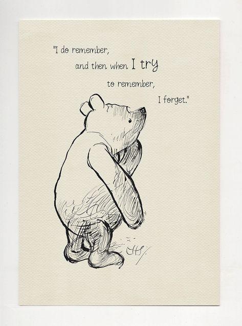 I do remember and then... Winnie the Pooh Kubuś