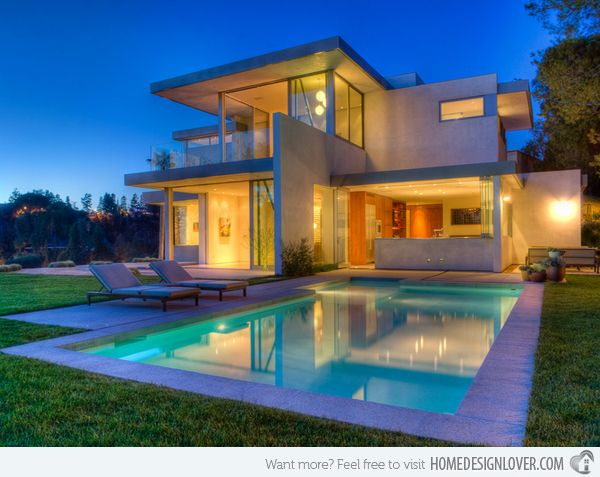 15 Lovely Swimming Pool House Designs Pool house designs Pool
