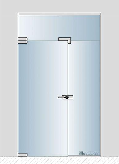 Raumteiler Berlin glasportal für hausflur als windfang oder raumteiler mit glastüren