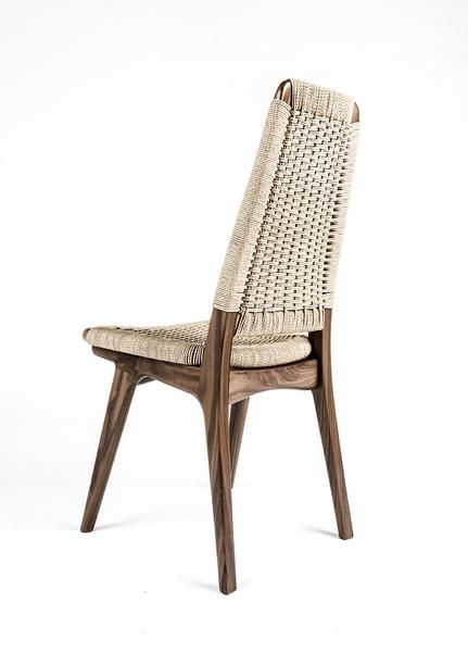 Rian High Back Chair is part of High back chairs - Taking Rian to new heights  All the beauty and sophistication of our Rian Collection realized in a new high back chair  Would be great at the end of your table or in front of your cantilever desk, you decide  Shown in Walnut with Natural Cord      •    Any domestic or exotic hardwood    •    Danish cord comes in Kraft