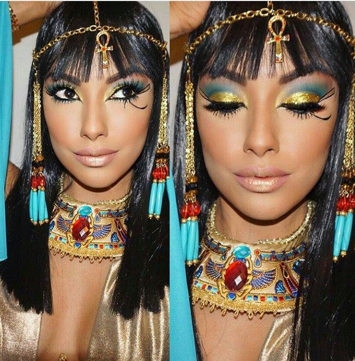 Cleopatra Halloween Make Up Kleopatra Kostum Kleopatra