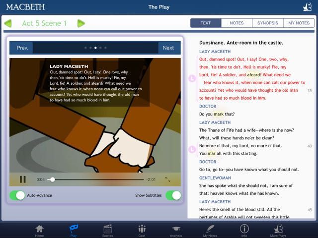 AppoLearning - Educational App Review: Shakespeare In Bits: Macbeth