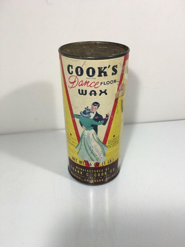 Vintage Unused Cook S Dance Floor Wax Ebay In 2020 Floor Wax Wax Vintage