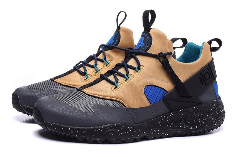 mens nike air huarache blue yellow
