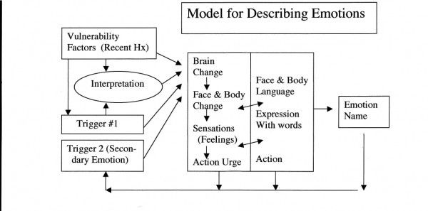 Model For Describing Emotions Dbt Dialectical Behavioral Therapy