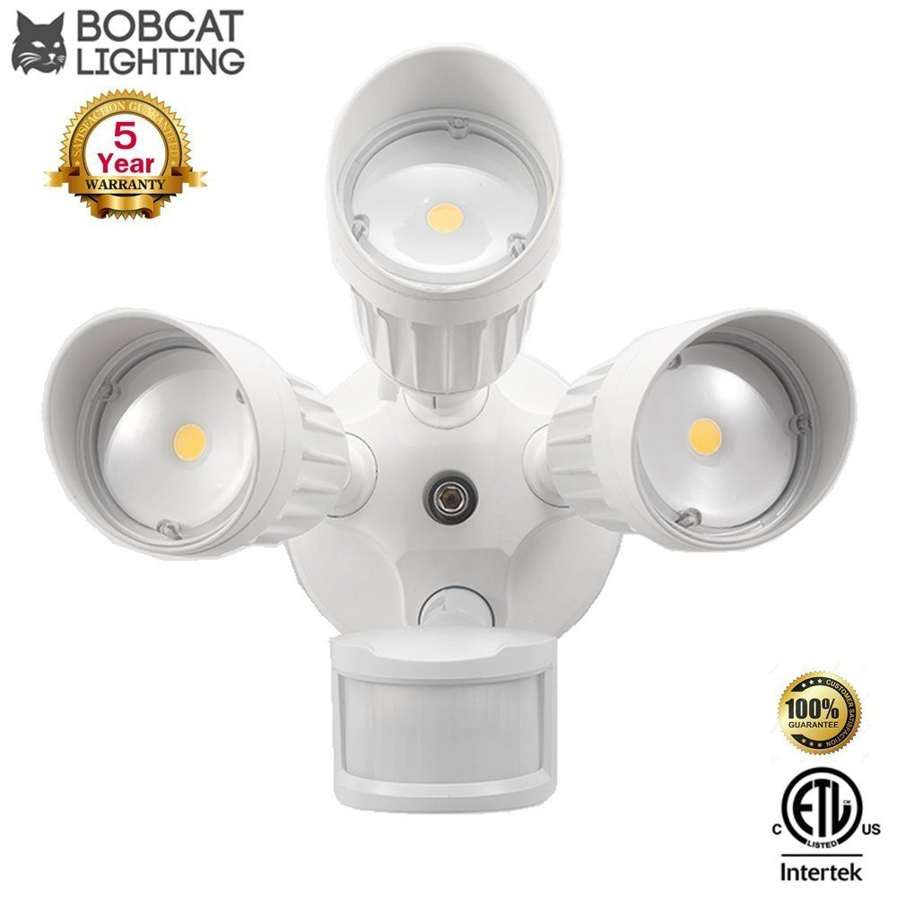 Flood Light Security Camera Magnificent Bobcat Led Flood Lights 180 Deg Motion Activated Outdoor Security 2018