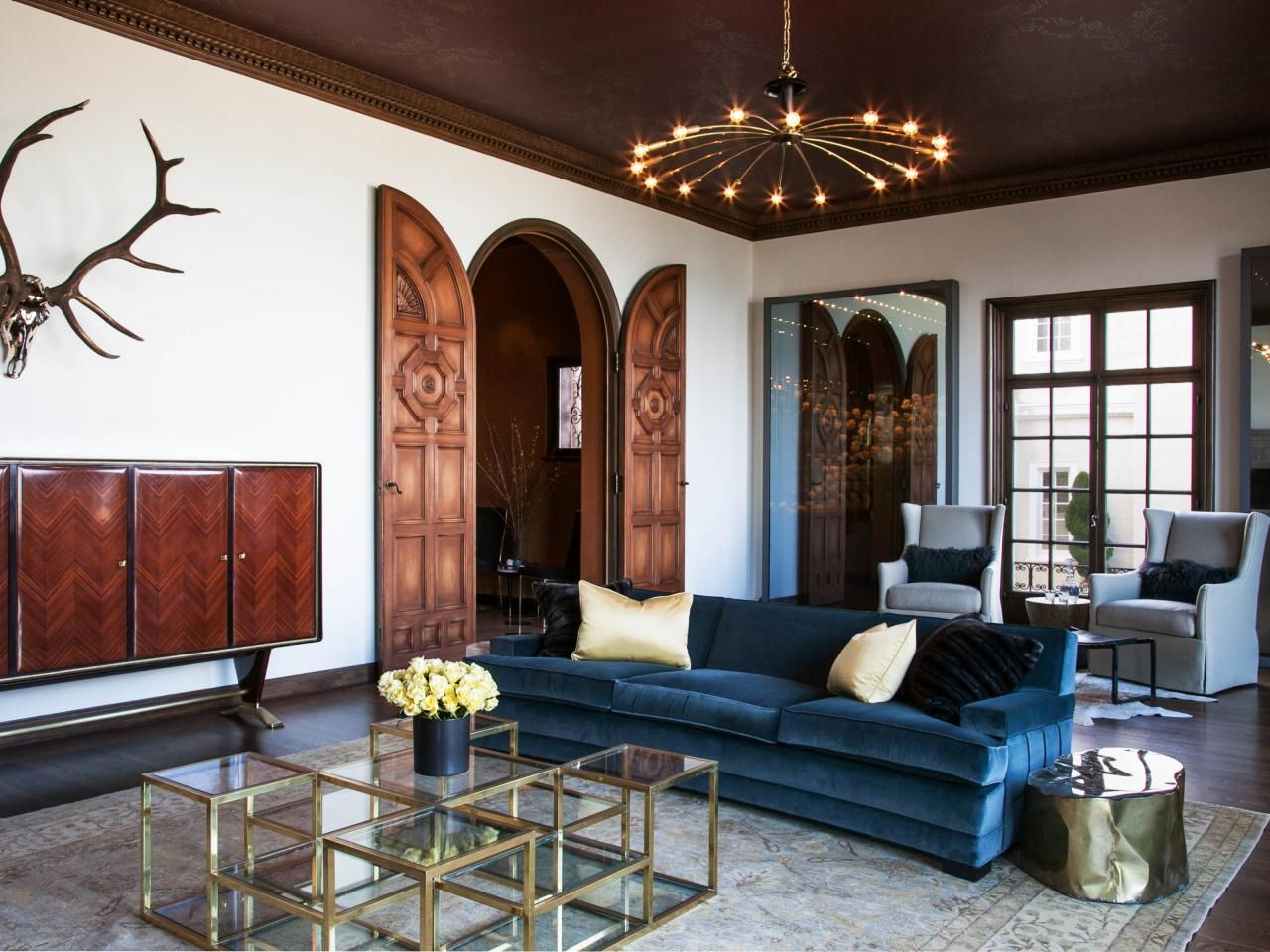 Sofas Sectionals Elegant Living Room Design Three Seat Blue Velvet Sofa