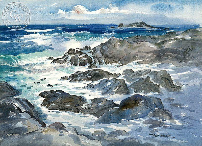 Seals At Play Watercolor Art Watercolour Painting Watercolor