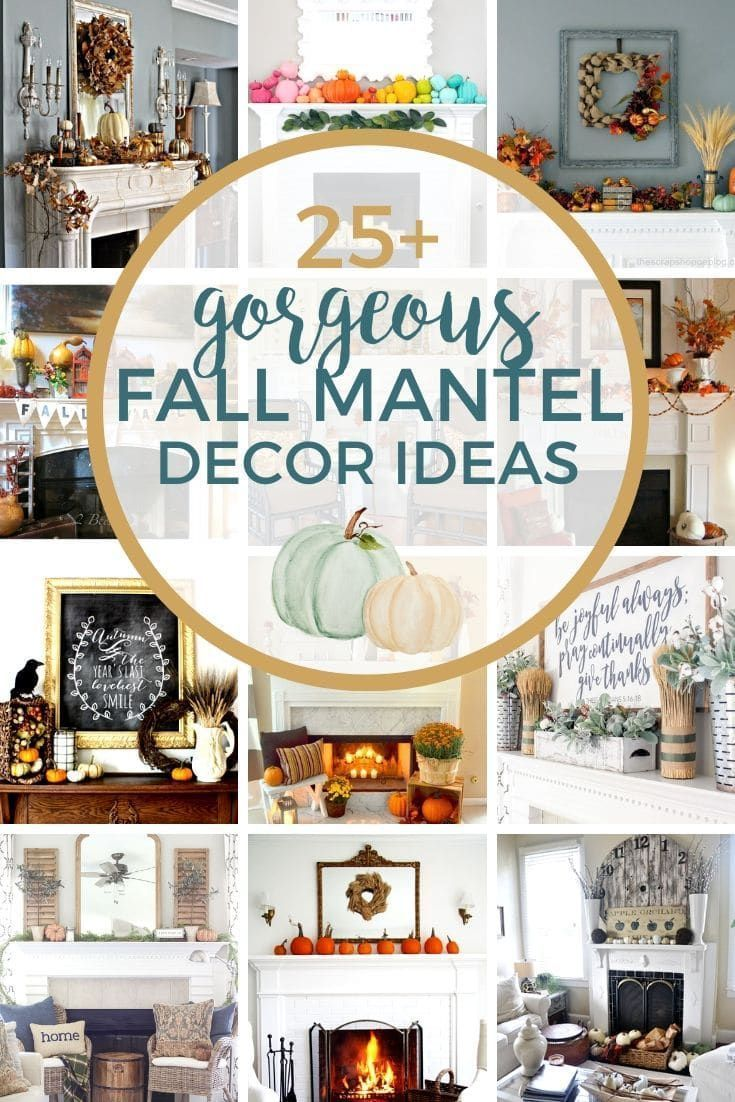 Ready to start layering on the fall decor? Start with your fireplace! Fall mantle decor is the perfect way to start your... #fallmantledecor Ready to start layering on the fall decor? Start with your fireplace! Fall mantle decor is the perfect way to start your... #fallmantledecor