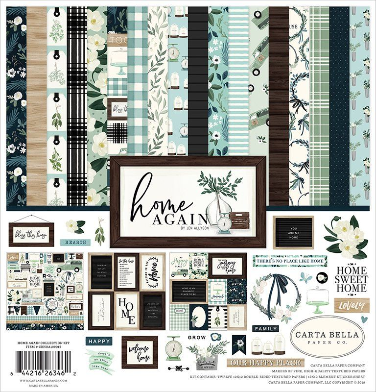 PAPER HOUSE HELLO BABY BOY PAPER CRAFTING SCRAPBOOK KIT W// PAPERS /& STICKERS