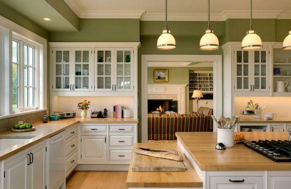 17 Best Rustic Kitchen Style Ideas Green Kitchen Walls Green Kitchen Cabinets Rustic Kitchen