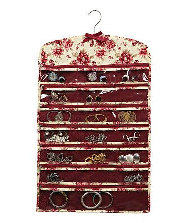 Laura Ashley Home Milner 42Pocket Zipper Jewelry Organizer Zipper
