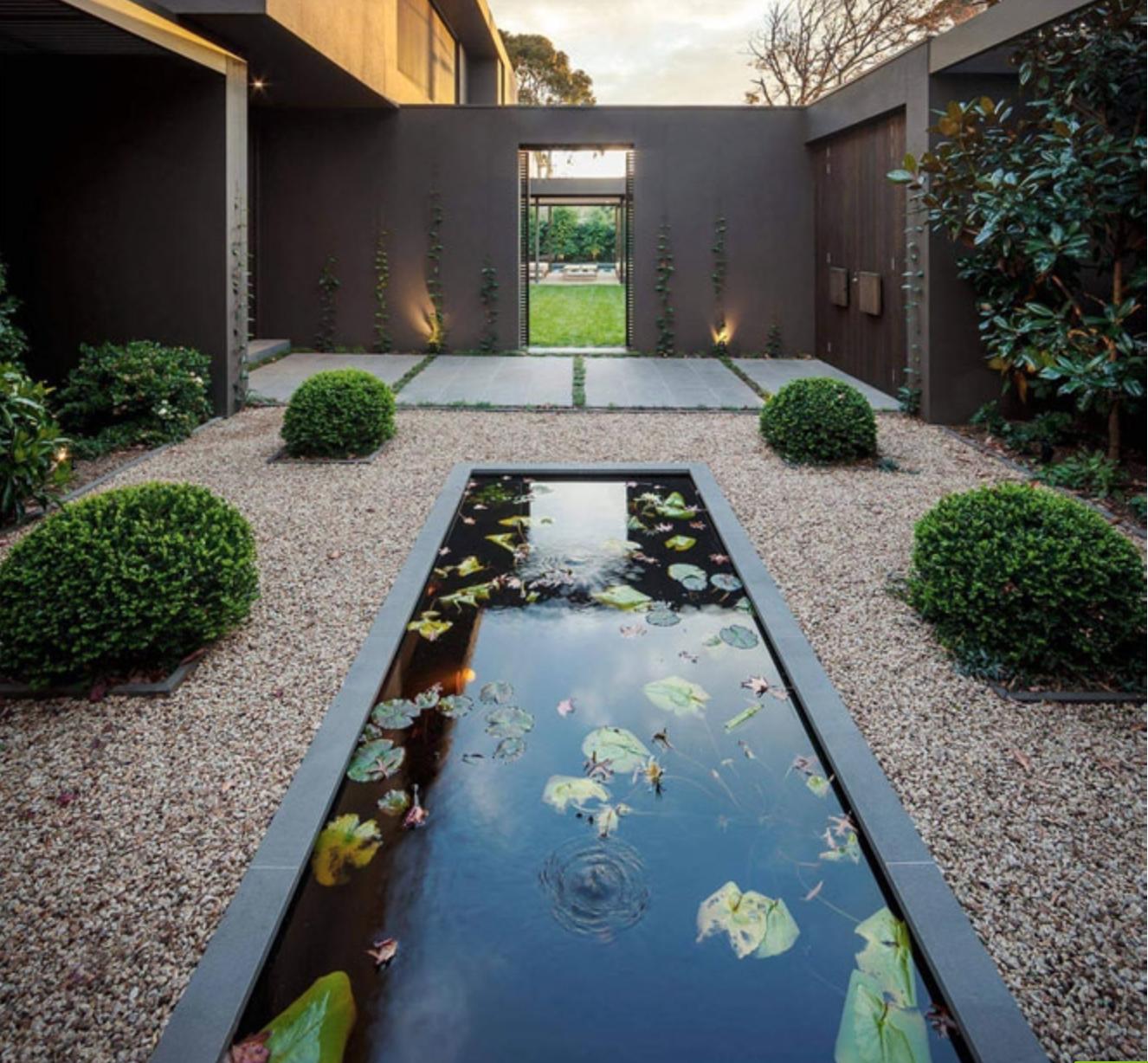 koi pond for the entry courtyard   Koi pond, Outdoor decor ... on Courtyard Pond Ideas id=87008
