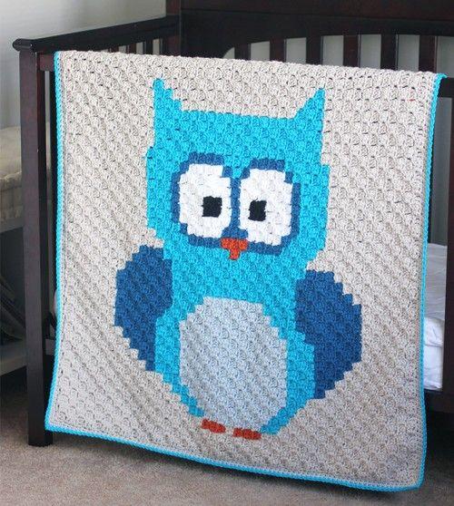 Crochet For Children: Baby Owl C2C Blanket - Free Pattern | crochet ...