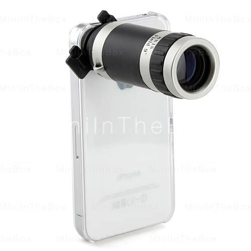 17 84 Optical 8x Zoom Telescope Camera Lens Manual Focus With Hard Back Case For Apple Iphone4 4s Iphone Lens Iphone 4 Iphone