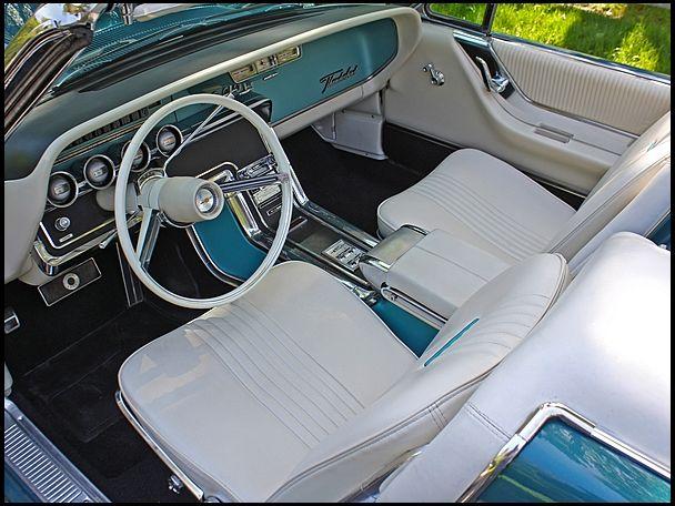 1965 Thunderbird Convertible Midnight Turquoise White Interior