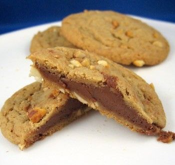 Chocolate-Filled Double Delight Peanut Butter Cookies | Baking Bites