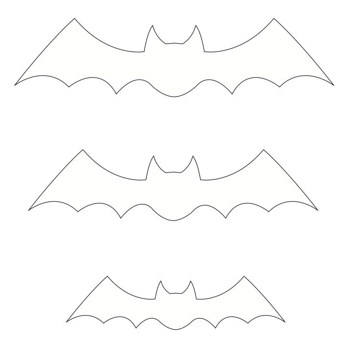 Moldes de morcegos para atividades diversas ou eva
